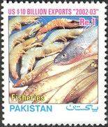 2003 Pakistan US $10 Billion Exports - Fish And Fisheries (1v) MNH (PK-70)