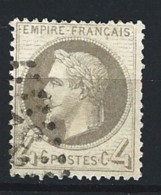 "YT 27B "" Napoléon III Lauré 4c. Gris "" 1870 GC 3XXX - 1863-1870 Napoleon III With Laurels"