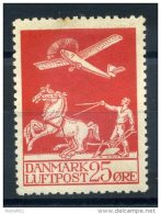 1925-29 DANIMARCA POSTA AEREA N.3 (A3) LINGUELLATO* - Posta Aerea