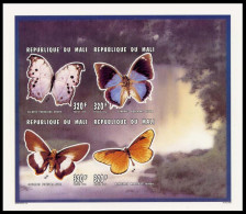 Mali 0844/47 Imperf Papillon - Papillons