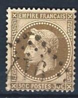"""YT 30 """" Napoléon III Lauré 30c. Brun """" 1867 GC 917 CHATEAU-DU-LOIR"""