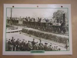 LOCOMOTION STEPHENSON Vapeur Grande Bretagne England Fiche Descriptive Ferroviaire Chemin De Fer Train Locomotive Rail - Picture Cards