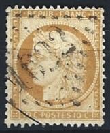 """YT 36 """" Cérès 10c. Bistre-jaune """" 1870 GC 1622 GAP"""