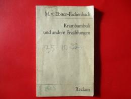 Krambambuli Und Andere Erzahlungen 1969 - Bücher, Zeitschriften, Comics
