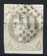"""YT 41B """" Cérès 4c. Gris Report 2 """" 1870 GC 1145 CORTE"""