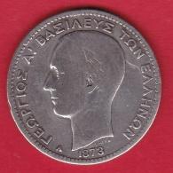 Grèce - 1 Drachme 1873 Argent - TB - Griechenland
