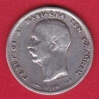 Grèce - 1 Drachme 1910 Argent - TB - Griechenland