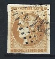 """YT 43B """" Cérès 10c. Bistre-jaune Report 2 """" 1870 GC 2348 MEZE - 1870 Bordeaux Printing"""