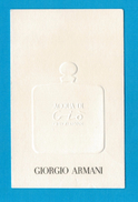 Cartes Parfumées Carte  ACQUA DI GIO   De  GIORGIO ARMANI RECTO VERSO - Modern (from 1961)