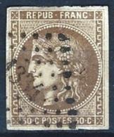 "YT 47 "" Cérès 30c. Brun "" 1870 PCGC 1334 DOUAI"