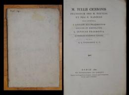 M. Tullii Ciceronis Orationum Pro M. Fonteio Et Pro C. Rabirio Fragmenta T. Livii Lib. XCI. Fragmentum Plenius Et ... - Libri Vecchi E Da Collezione