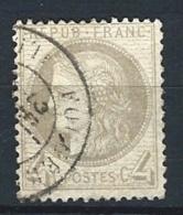 """YT 52 """" Cérès 4c. Gris """" 1872 Cachet à Date T24 Fougères - 1871-1875 Ceres"""