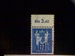 Germany(Soviet Zone/GDR), Scott #49, Used (o), 1949 Postal Workers, 12pf, Blue - Gebraucht