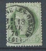 """YT 53 """" Cérès 5c. Vert-jaune """" 1872 Cachet à Date Campagne-Les-Hesdin"""