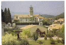 PEGOMAS. - L'Eglise Et Village. CPM - France