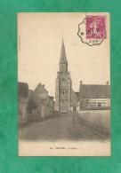 Yèvres (28-Eure-et-Loir) L'église 2 Scans 07/06/1935 - France