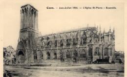 Cpa Caen 14 Calvados Destrution - Caen