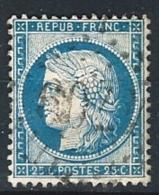"YT 60B "" Cérès 25c. Bleu "" 1871 GC 709 CAMBRAI"