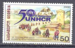 2000. Georgia, 50y Of Refugee Commitee UNHCR, 1v, Mint/** - Georgia