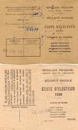 VP6033 - Ville De PARIS - Carte D'Electeur Sécurité Sociale  X2 Mr FREPP Bronzeur à VILLEPARISIS - Cartes