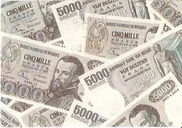 Kaart Met Belgische Bankbiljetten - Stempel Belgica 72 - Monnaies (représentations)