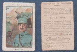 CHROMO PÂTES BOZON VERDURAZ WW1 MARECHAUX ET GENERAUX - OLIVIER CHARLES ARMAND ADRIEN GENERAL DE DIVISION - SERIE G N°41 - Trade Cards
