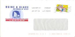 Enveloppe Illustrée Usine à Glace Du Moulin Neuf Elne Pyrénées Orientales Ours Polaire Polar Bear Bär Toshiba 42618A-01 - Bears