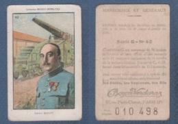CHROMO PÂTES BOZON VERDURAZ WW1 MARECHAUX ET GENERAUX - DUPORT GENERAL DE DIVISION - SERIE G N° 42 - Trade Cards