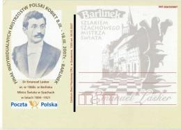 Chess Schach Ajedrez Echecs Lasker Poland Postcard - Scacchi