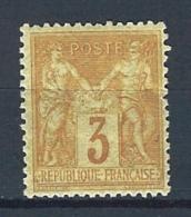 "YT 86 TII "" Sage 3c. Bistrejaune "" 1878 Neuf* Avec Gomme"