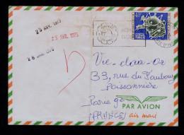 CÔTE D´IVOIRE Elephants Faune Animals Sculpture Symbol 2 Cover 1975 FRANCE U.P.U. Cent. Postes Mail Courrier Gc2620 - U.P.U.