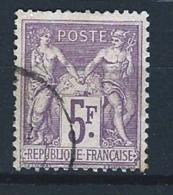 """YT 95 TII """" Sage 5F. Violet S. Lilas """" 1877 CAD - 1876-1878 Sage (Type I)"""
