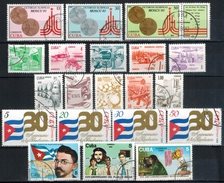 KUBA 1980-1989 Lot Mit 3 Kompletten Sätzen Und Einzelwerte  Used - Kuba