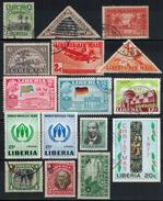 LIBERIA  Ab 1909 - Lot 16 Verschiedene  Used + ** - Liberia