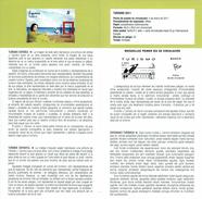 TOURISME - PLAGE - CHEVAL - PEINTURE - DOCUMENT INSTRUCTIF DE L´ÉMISSION DE TIMBRE ESPAGNE - España