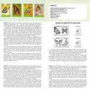 FAUNE PAPILLONS - DOCUMENT INSTRUCTIF DE L´ÉMISSION DE TIMBRE ESPAGNE - Sin Clasificación