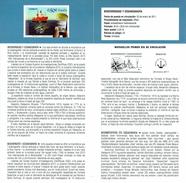 BIODIVERSITÉ ET OCÉANOGRAPHIE - BATEAU - DOCUMENT INSTRUCTIF DE L´ÉMISSION DE TIMBRE ESPAGNE - España