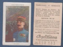 CHROMO PÂTES BOZON VERDURAZ WW1 MARECHAUX ET GENERAUX - BUAT GENERAL DE DIVISION - SERIE H N° 19 - Trade Cards