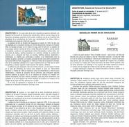 ARCHITECTURE - GARE ALMERIA - DOCUMENT INSTRUCTIF DE L´ÉMISSION DE TIMBRE ESPAGNE - España