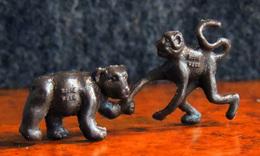 La Roche Aux Fées : Série Du Cirque : Ourson & Ouistiti - Figurine Complète & Intacte - Figurines