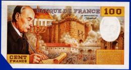1 SPÉCIMEN VRAIE FAUSSE MONNAIE 100 FRANCS FRANCOIS MITTERRAND SOLE 1989 COIN COUPE POUR ANNULATION FANTAISIE FICTIF... - Specimen