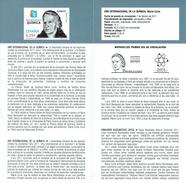 Année Internationale De La Chimie - MARIE CURIE - DOCUMENT INSTRUCTIF DE L´ÉMISSION DE TIMBRE ESPAGNE - España