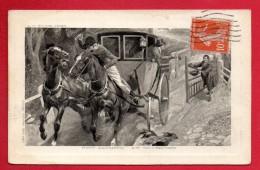 Pont Douanier. Zollbrücke. Diligence  Et Mendiant. 1913. Illustration  A.J. Gough - Douane