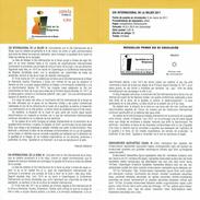JOURNÉE INTERNATIONALE DE LA FEMME - DOCUMENT INSTRUCTIF DE L´ÉMISSION DE TIMBRE ESPAGNE - Sin Clasificación