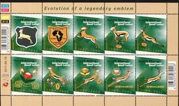 Rugby Afrique Du Sud  évolution De L'emblème 2011- Feuillet 1622-1631 - Rugby