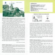 CATHÉDRALE DE ALBARRACÍN - DOCUMENT INSTRUCTIF DE L´ÉMISSION DE TIMBRE ESPAGNE - España