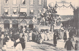 """[06] Alpes Maritimes > Nice -CARNAVAL De NICE 1907 Le Char Des Reporters """"le Chantecler (Editions Photo CAUVIN*PRIX FIXE - Carnaval"""