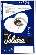 D S/Buvard   Drap Solidra (N= 1) - Buvards, Protège-cahiers Illustrés
