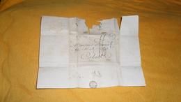 DEVANT DE LETTRE ANCIENNE DE 1829. / CACHET BLEU DATE + TAXE. / CAHORS. - Marcophilie (Lettres)