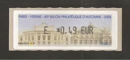 France, Distributeur, 676, Vienne, Paris, 2006, Type AM, Neuf **, LISA 1 - 1999-2009 Vignettes Illustrées
